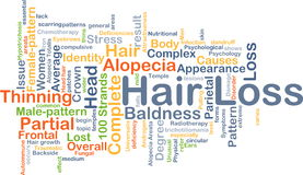 Hair loss background concept Royalty Free Stock Photo