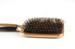 Hair loss 4. Hair loss,brush with hair Royalty Free Stock Photography