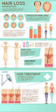 Hair Loss Infographic Poster Stock Photography