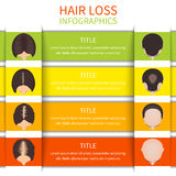 Hair loss infographic template Stock Image