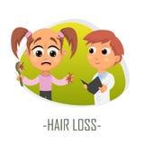 Hair loss medical concept. Vector illustration. royalty free illustration