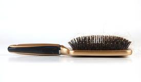 Hair loss 3. Hair loss,plastic brush in whitr background Stock Images