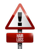 Hair loss road sign illustration design Stock Images