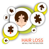Hair loss solution concept Royalty Free Stock Photography