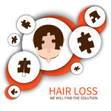 Hair loss solution concept Royalty Free Stock Photos