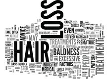Are Hair Loss Treatments Just One Big Scamword Cloud Royalty Free Stock Images