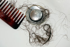 Hair loss after washing of the head Royalty Free Stock Photography
