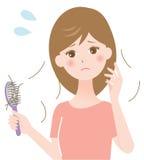 Hair loss woman Royalty Free Stock Image
