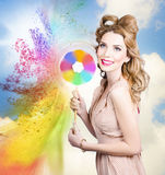 Hair and makeup coloring concept Royalty Free Stock Images