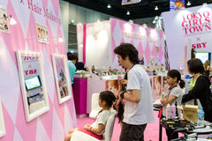Hair Makeup Zone on Tokyo Girls Town by Tokyo Girls Collection booth during. Royalty Free Stock Photography