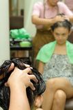 Hair massage treatment Stock Image