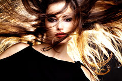 Hair in motion Royalty Free Stock Images