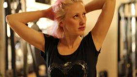 Hair move girl stock footage