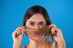 Hair mustache Stock Photos