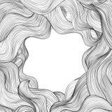 Hair outline background. Wavy hair frame for beauty salon design Royalty Free Stock Photos