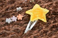 Hair pin and wig Royalty Free Stock Photos