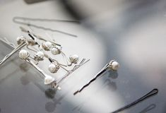 Hair pins. And bobby pins Royalty Free Stock Image