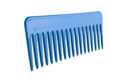 Hair plastic comb isolated Stock Images