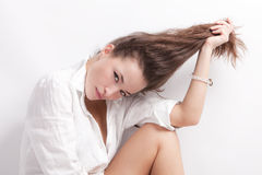 Hair portrait Royalty Free Stock Photography