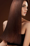 Hair. Portrait of Beautiful Woman with Long Hair. Royalty Free Stock Images