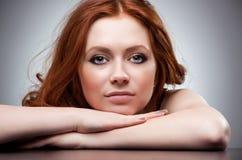 hair portrait red woman young στοκ φωτογραφίες