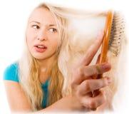 Hair problem stock photos