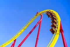 Hair raiser roller coaster ride ocean park hong kong stock image
