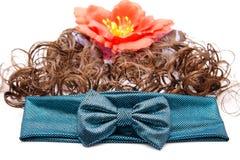 Hair ribbon with hair Royalty Free Stock Photo