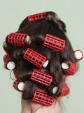 Hair rollers Royalty Free Stock Photo