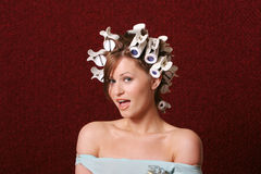 Hair rollers Royalty Free Stock Photography