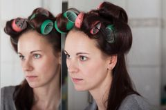 Hair rollers Stock Image