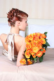 Hair and roses Stock Images
