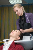 In a hair salon Stock Images