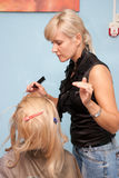 In a hair salon Royalty Free Stock Images