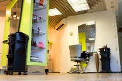 Hair salon. Funky modern interior of hair salon Stock Photography