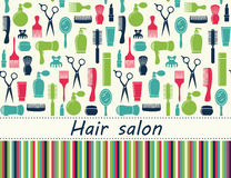 Hair salon background with place for text. Hair salon seamless background with place for text Royalty Free Stock Images