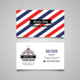 Hair salon barber shop Business Card design template Royalty Free Stock Photography