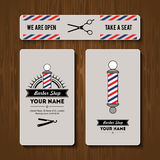 Hair salon barber shop Business Card design template set Stock Photo