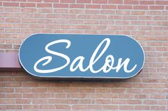 Hair Salon Center Sign Royalty Free Stock Images