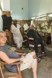 Hair salon Central Havana Royalty Free Stock Photo
