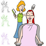 Hair Salon Coloring Stock Image