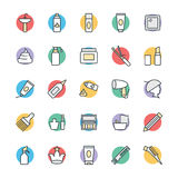 Hair Salon Cool Vector Icons 2 Royalty Free Stock Photography