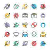 Hair Salon Cool Vector Icons 1. This Hair Salon Vector Pack will have you simply singing away as you use it for your design and artwork related to hairdressing Stock Images