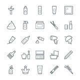 Hair Salon Cool Vector Icons 2. This Hair Salon Vector Pack will have you simply singing away as you use it for your design and artwork related to hairdressing Royalty Free Stock Images