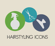 Hair Salon design. Hair Salon digital design, vector illustration eps 10 Stock Image
