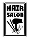 Hair salon design Royalty Free Stock Images