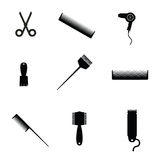 Hair salon elements icon vector Royalty Free Stock Photos
