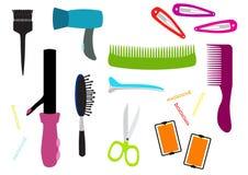 Hair salon equipment illustration Stock Photography