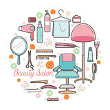Hair Salon Equipments Set Royalty Free Stock Images