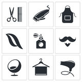 Hair salon icon set Stock Photo